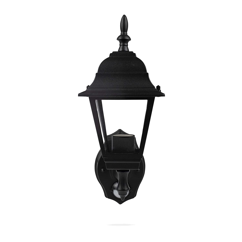 100 W Black Smartwares ES94 4-Panel Wall Lantern with PIR Motion Detector
