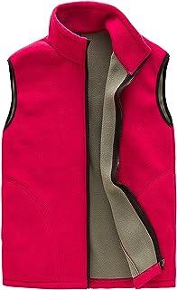 Feoya Da Donna con Cerniera Senza Maniche Gilet in Pile Colore Solido Outfit Giacca con Tasche
