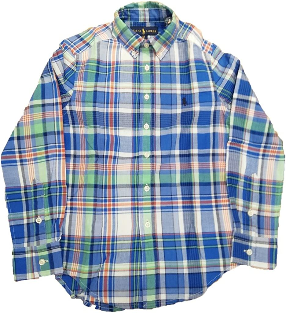 Ralph Laurent - Spring II - Blue MU - Camisa Cuadros NIÑO ...