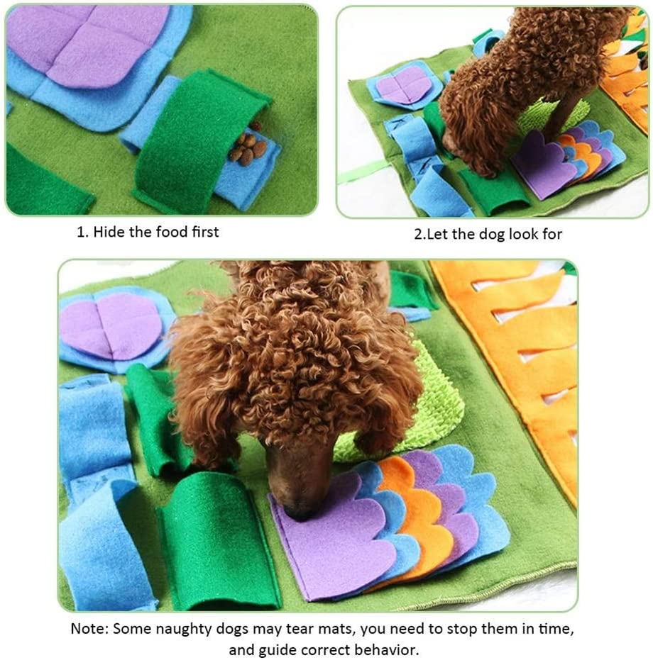 Hihey Sniffing Carpet Dog Cane Che odora Training Intelligence Toy Pet Sniffing Pad Lavabile Training Coperta Materassino per lalimentazione Multi Color Lining Mat