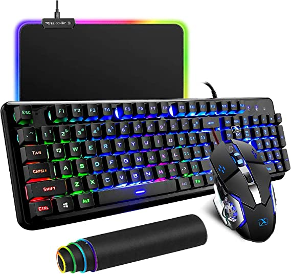 Wired Keyboard and Mouse Mousepad Combo