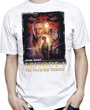 Camiseta Hombre - Unisex Star Wars: Episodio I - La Amenaza Fantasma: Amazon.es: Ropa y accesorios