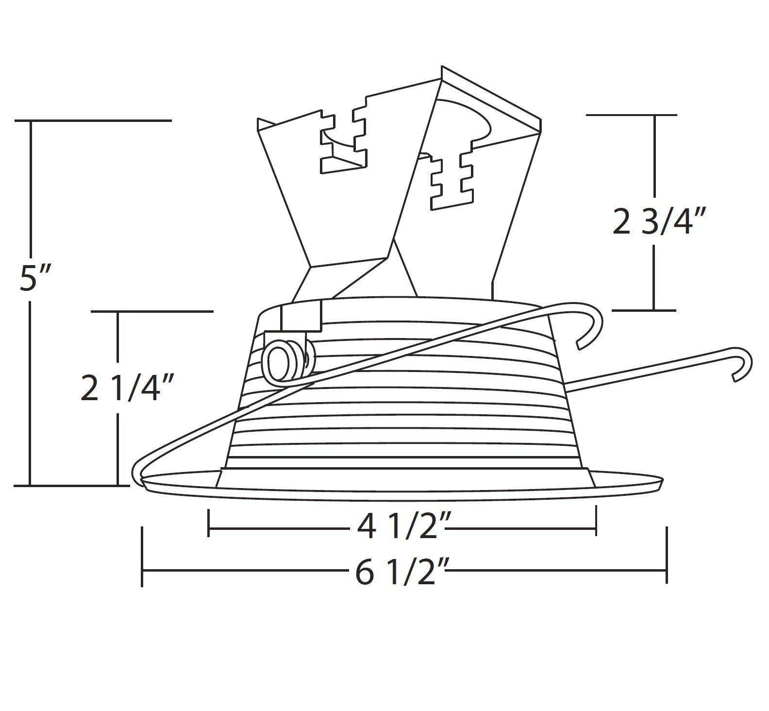 NICOR Lighting 5-Inch Recessed Baffle Trim, Bronze (15511BZ)