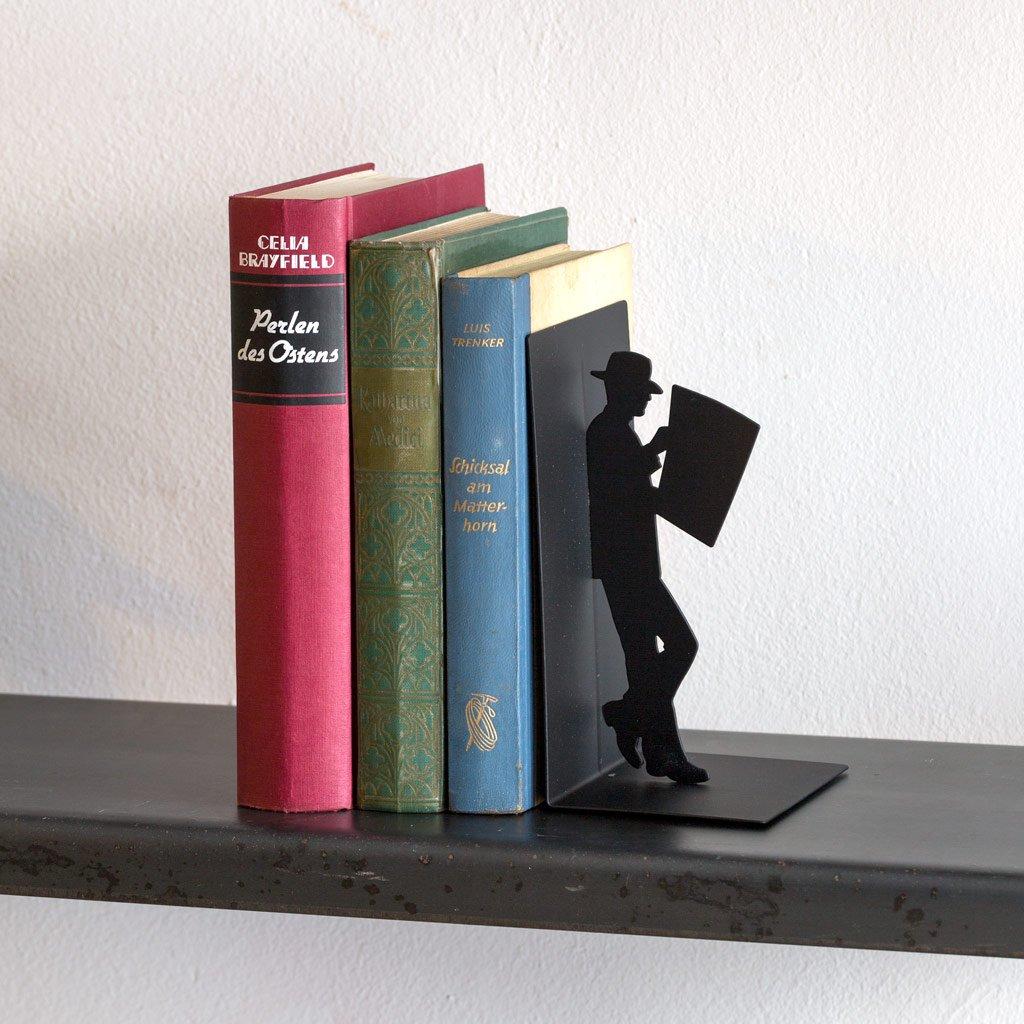 balvi/-/The/Reader/Schwarze/Buchst/ützte/aus/Metall./Originelles/Design