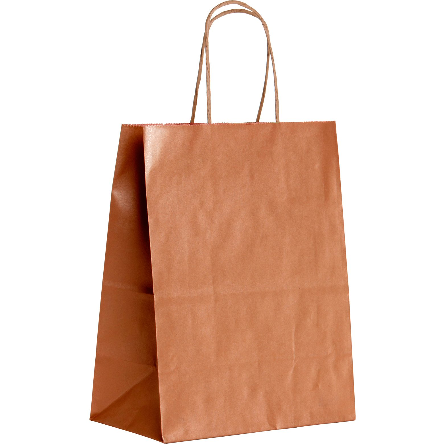 Jillson Roberts BMK955.1 Bulk 250-Count Medium 8'' x 10.5'' x 4.75'' Recycled Kraft Bags Available in 20 Colors, Metallic Copper