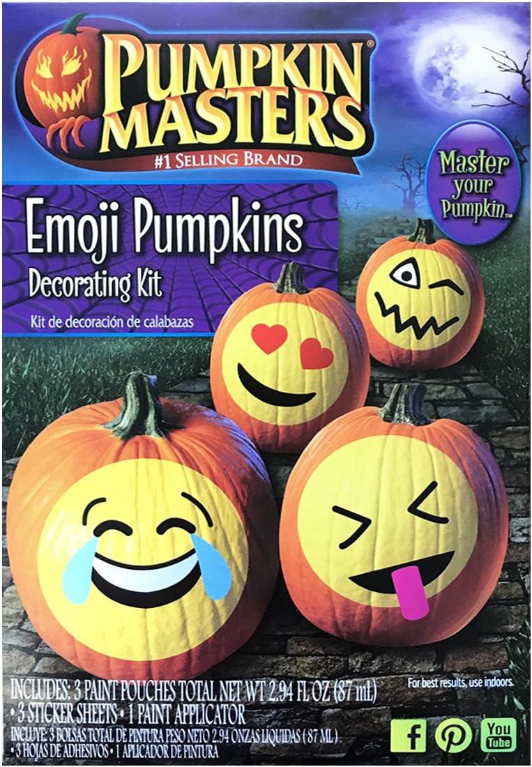 Amazon Com Pumpkin Masters Emoji Pumpkins Decorating Kit Arts