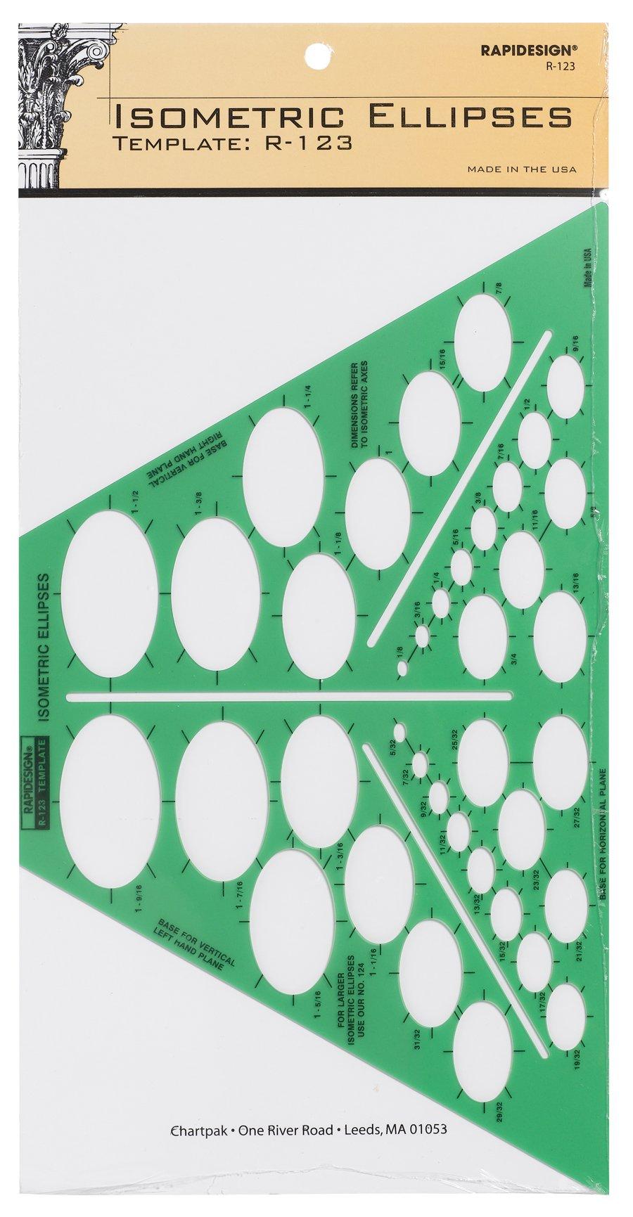 Rapidesign Isometric Ellipse Template, 1 Each (R123)