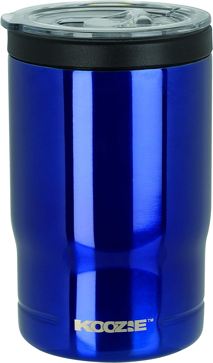 Koozie Stainless Steel Double Wall Vacuum Insulated Triple Can Cooler, Bottle or Tumbler - 12 oz. (Royal)