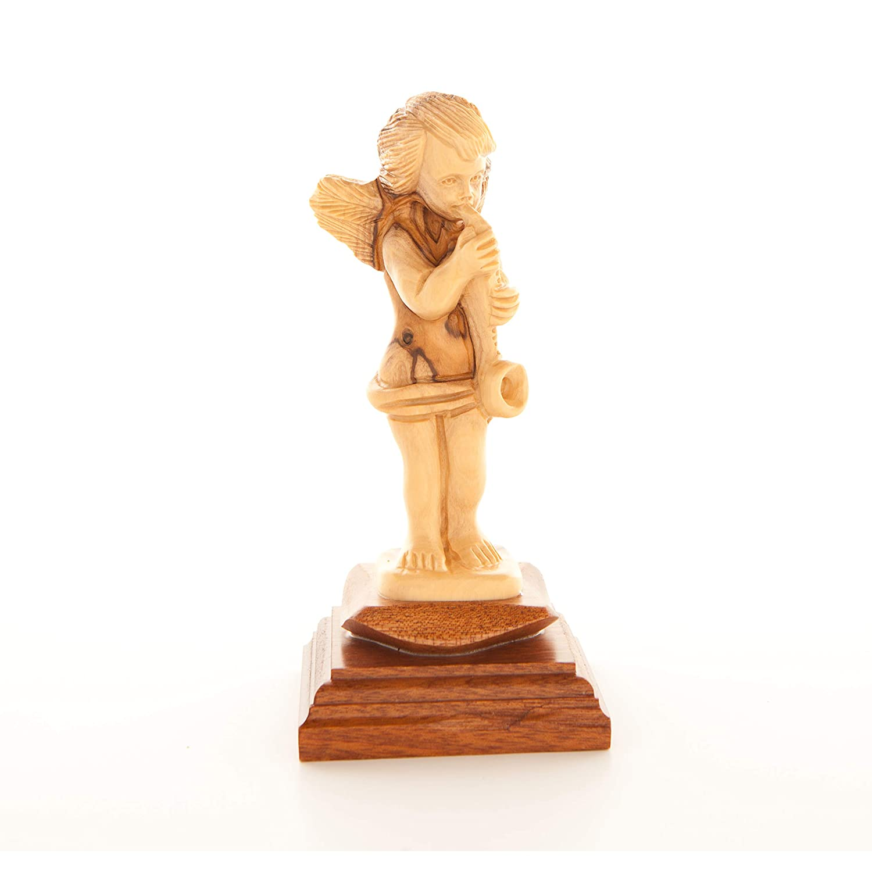 Amazoncom Bethlehem Handicrafts Hand Carved Wooden Angel Home