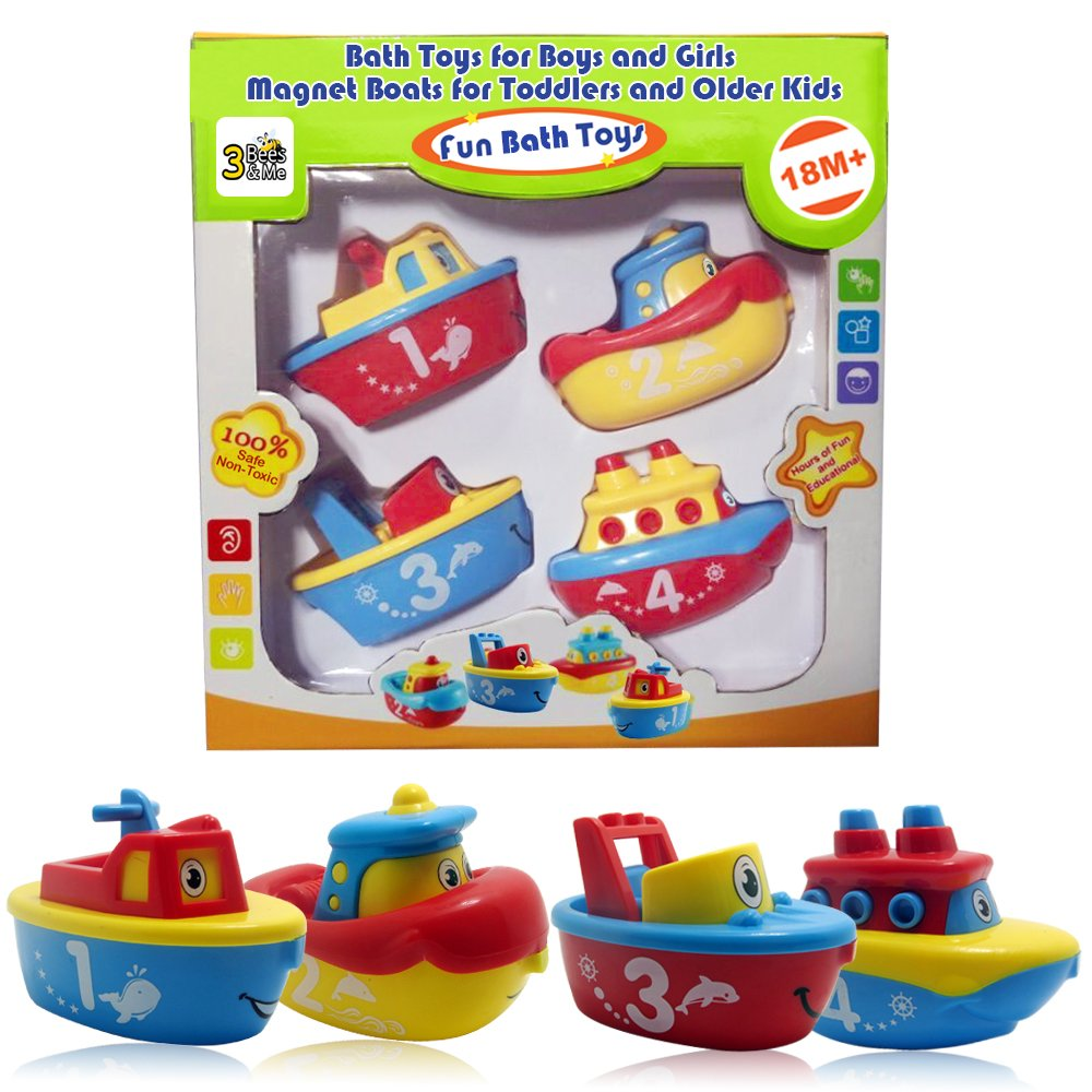 3 Bees & Me Magnet Boats for Toddlers