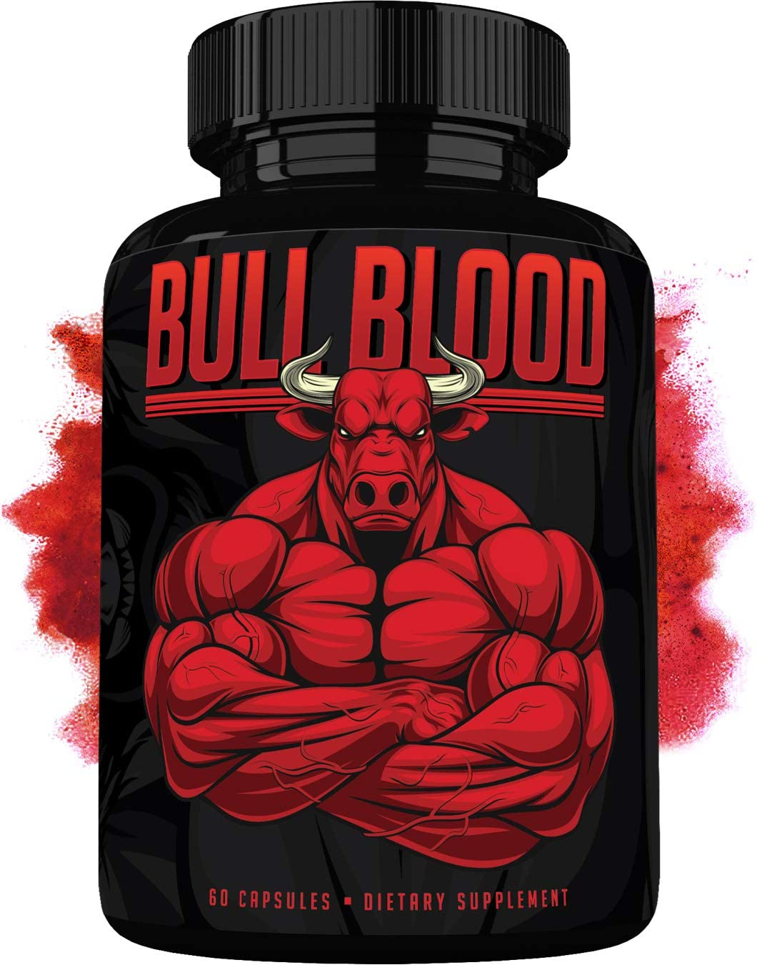 Bull Blood – Natural Energy Pills – Increase Strength and Energy – Powerful Supplement with Natural Ingredients – 60 Capsules – Made in USA