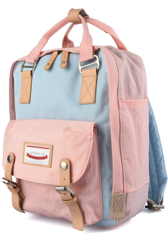 Goldwheat School Backpack Laptop Bag for Teen Girls Bookbag College Back Pack