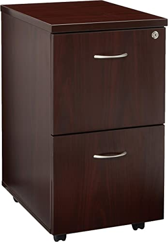 Lorell Mobile Pedestal, File File, 16 by 22 by 28-1 4-Inch, Mahogany