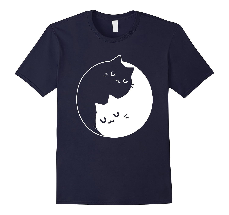 Yin Yang Cat: Meditation, Yoga T-Shirt For Women/Cat Lovers-T-Shirt