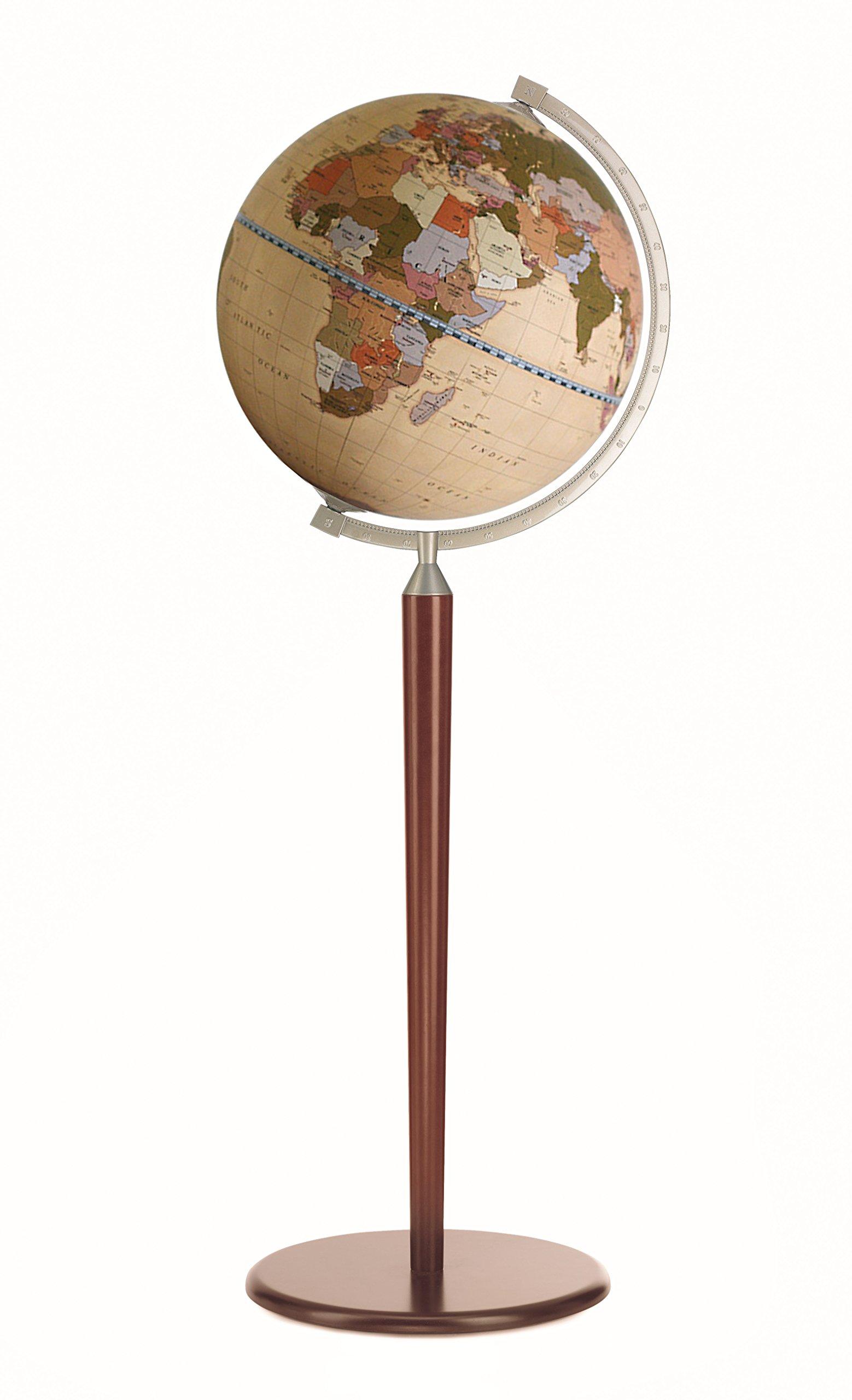 Zoffoli 16'' Vasco da Gama Floor Globe (Dark Stand with Apricot Ocean) by Zoffoli Globes USA