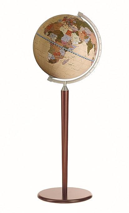 "Zoffoli 16"" Vasco da Gama Floor Globe (Dark Stand with Apricot ..."