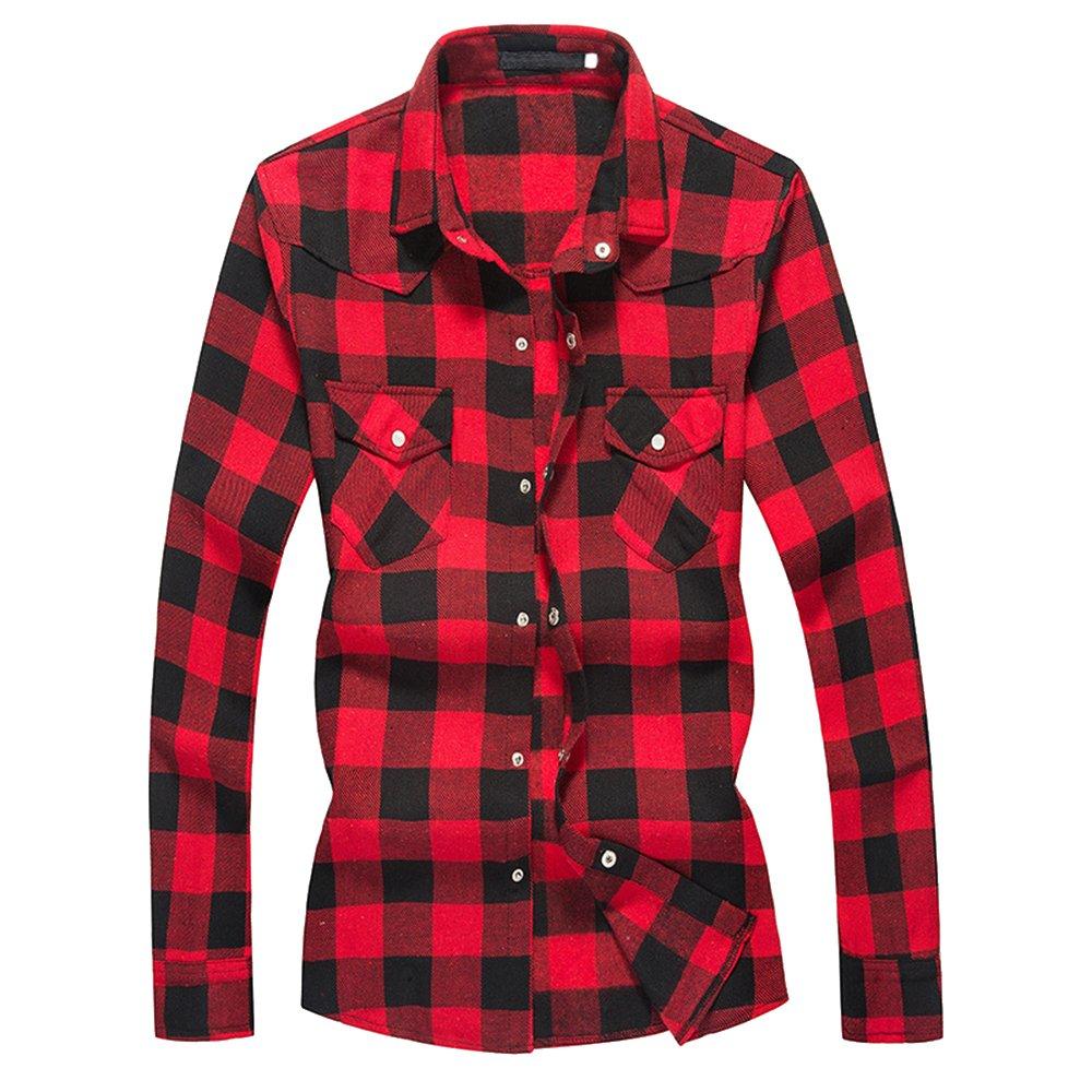 HOLZFÄLLERHEMD Freizeithemd Karohemd rot blau Flanellhemd Hemd S M L XL XXL XXXL