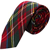 Traditional Red Tartan Check Necktie, NeckNecktie, Scotland, Highland, Scottish , Stewart Tartan