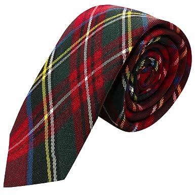 3f13cf86fdf6 Traditional Red Tartan Check Tie, Necktie, Scotland, Highland, Scottish  Look, Stewart Tartan: Amazon.co.uk: Clothing