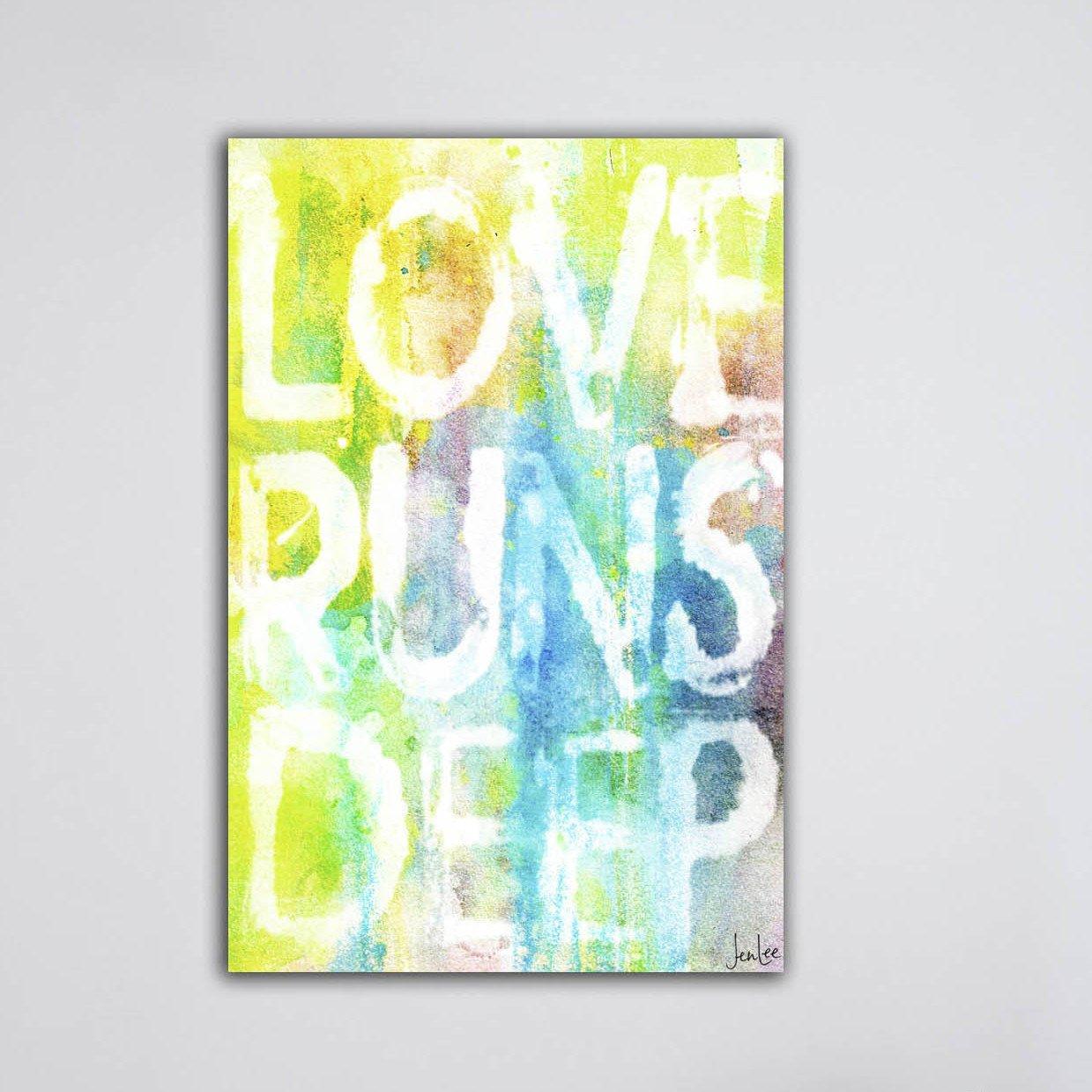 Marmont Hill Love Runs Deep Canvas Wall Art, 36 by 24-Inch