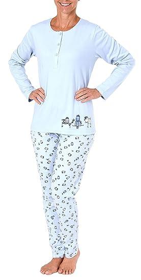 e5982e0893d0d0 Damen Pyjama Schlafanzug mit süssen Hunde Motiv - auch in Übergrössen - 281  201 96 226