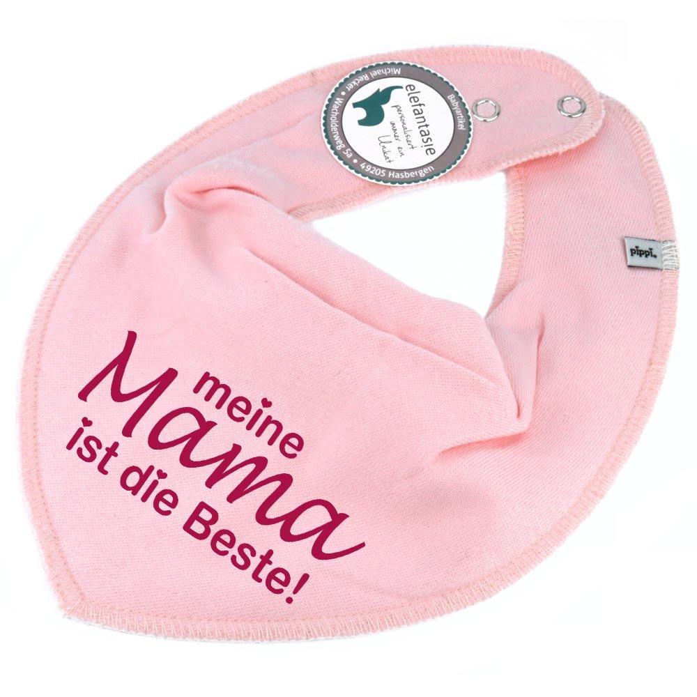 HALSTUCH mit Spruch meine Mama ist die Beste! für Baby oder Kind dunkelblau Elefantasie
