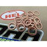 15x HEL Motorcycle Bike Car Brake Line Banjo Bolt Copper Crush Washers M10