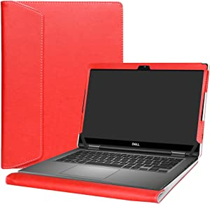 "Alapmk Protective Case Cover for 13.3"" Dell Latitude 13 7389 7390 2-in-1 Series Laptop(Warning:Not fit Latitude 13 7350 2-in-1/Latitude 13 7390/Latitude 13 7380 7370),Red"