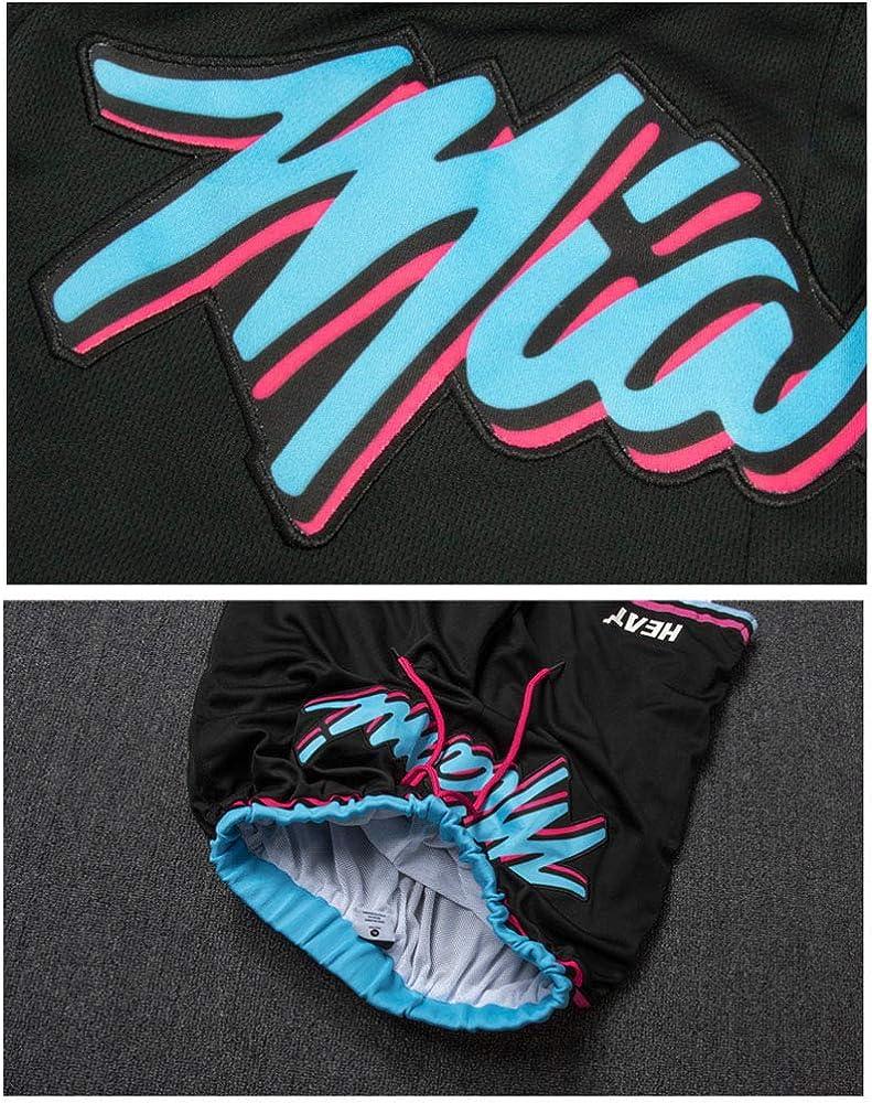 Pantalones Cortos de Baloncesto para Hombre YHsports Miami Heat Dwyane Tyrone Wade Shorts Deportiva Camiseta