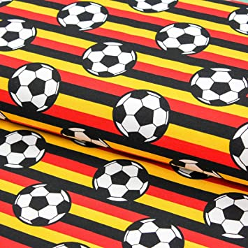 Brittschens Stoffe Und Zutaten Stoff Jersey Baumwolljersey Fussball Deutschlandflagge Wm Stoff Meterware Stoff Zum Nahen Kinderstoff