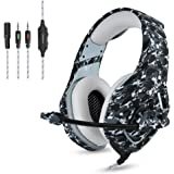 Cuffie Gaming Camuffamento ONIKUMA Auricolare da Gioco Microfono Gamer  Confortevole Stereo Basso Isolamento Rumore di Controllo 651c097cec8b