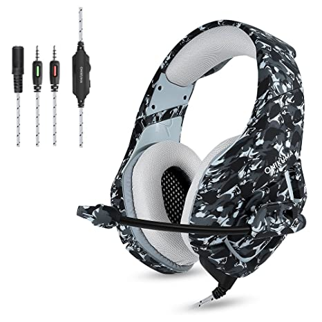 Stereo Gaming Headphones with Mic Clip in-line Volume Control for Playstation 4 Xbox One