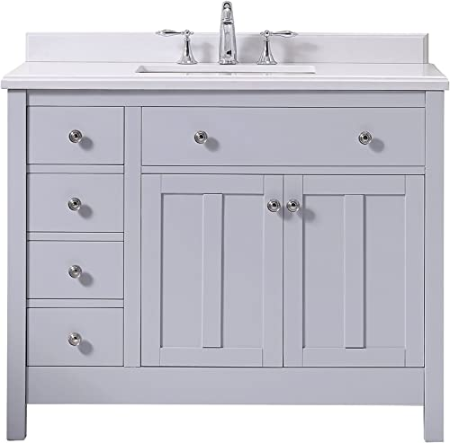 Ove Decors Newcastle 42 Grey Freestanding Vanity