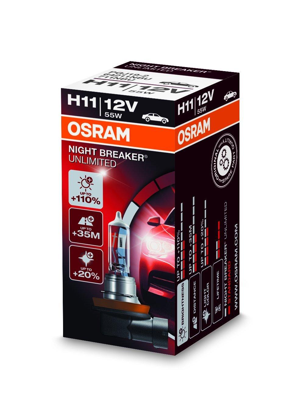 Osram 64211CBI-HCB Cool Blue Intense H11 Halogen, Scheinwerferlampe, 12 V, Duo Box, Anzahl 2