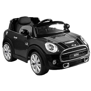 costzon black bmw mini cooper 12v electric kids ride on car licensed mp3 rc remote control