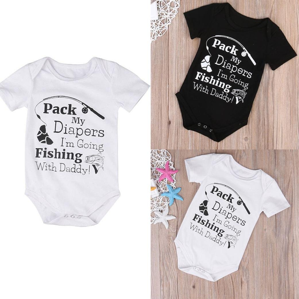 3e6d2e87a Amazon.com  G-real Infant Baby Boys Girls Funny Letter Fish Print ...