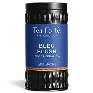 Tea Forte Butterfly Pea Blue Herbal Tea, Makes 35-50 Cups, 1.59 Ounce Loose Leaf Tea Canister, Bleu Blush
