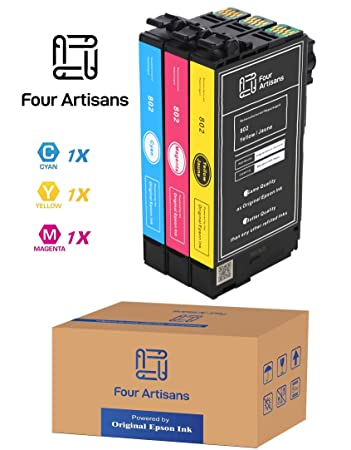 Amazon.com: FourArtisans - Cartuchos de tinta originales 802 ...