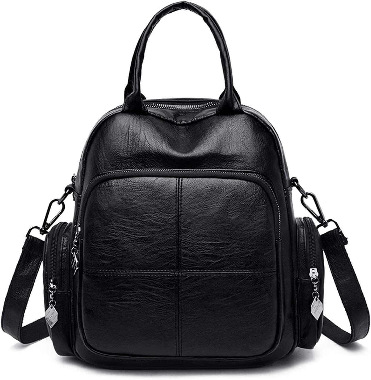Fashion Female Backpack Multifunction Women Soft Leather Backpack Women Shoulder Bag,Brown