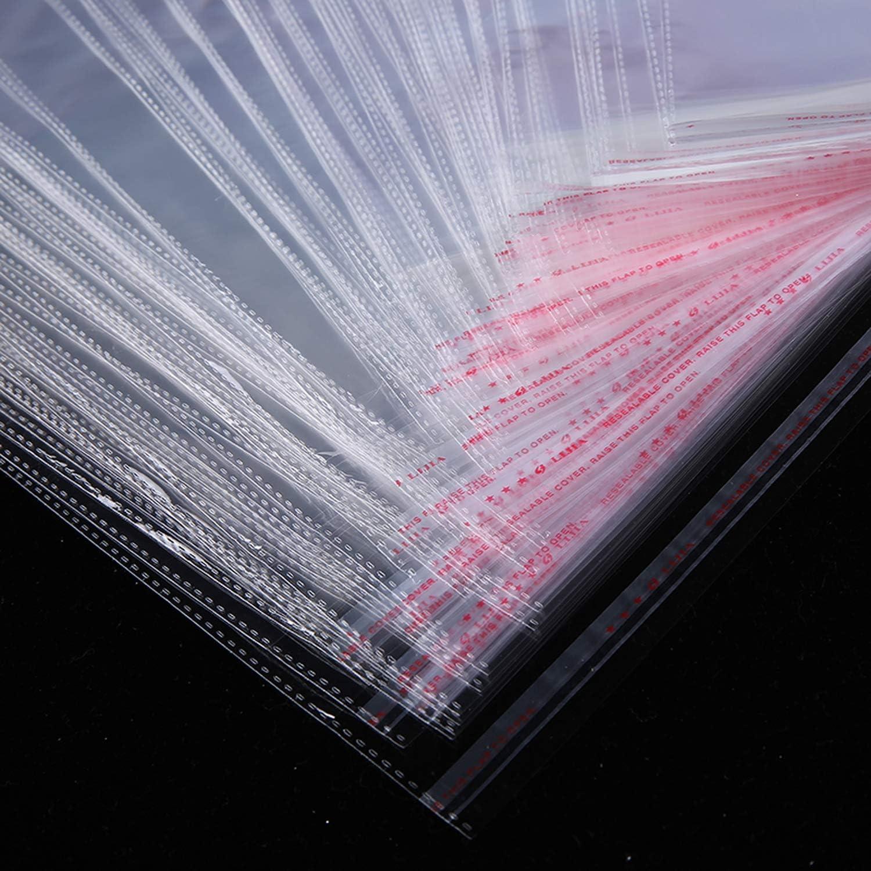 Sac Cadeau 100 Pcs Clair Auto-Adh/ésif Violoncelle Cellophane Sac Auto-Scellant En Plastique Sacs V/êtements Bijoux Emballage De Bonbons Opp Refermable-20X30Cm Use 19.5X26