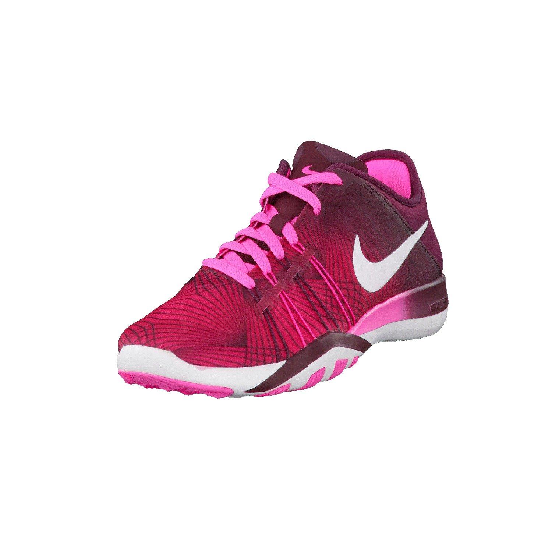 best cheap bf296 70286 Galleon - Nike Free TR 6 Print Pink Blast White Night Maroon Sneaker