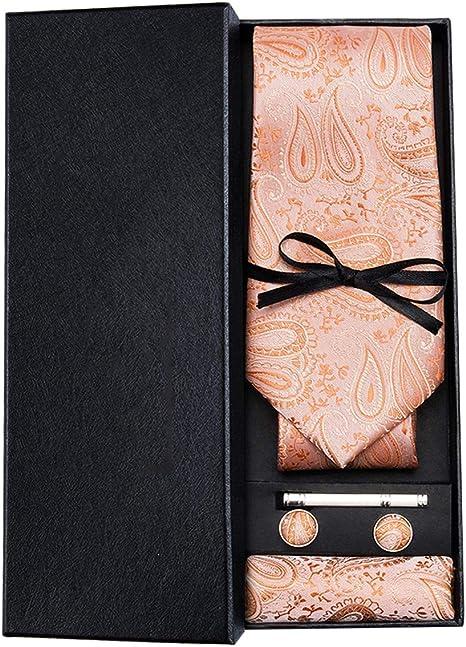 HYCZJH Corbata Coral Rosa Corbatas Florales para Hombres Cuñas de ...