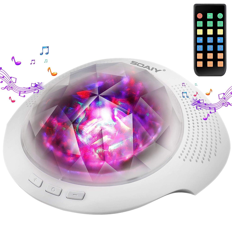 Aurora Night Light , Projector Nightlight Sound Machine with 7 Light Modes  , Bluetooth Speaker, 4 Timers and