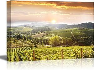 "wall26 - Vineyard Landscape in Tuscany Italy - Canvas Art Wall Art - 16"" x 24"""