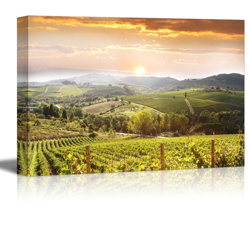 wall26 Canvas Prints Wall Art - Chianti Vineyard Landscape in ...