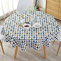Semplice stile nordico, tovaglia rotonda tovaglie per tavolo circolare copertura antipolvere, cotone lino, copertura per tavolo da buffet, feste, cene