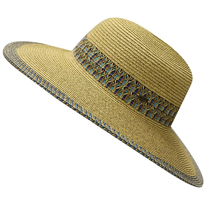 0810aab9008 City Hunter St107 Women Wide Brim Upf 50+ Sun Beach Floppy Hat 4 Colors (