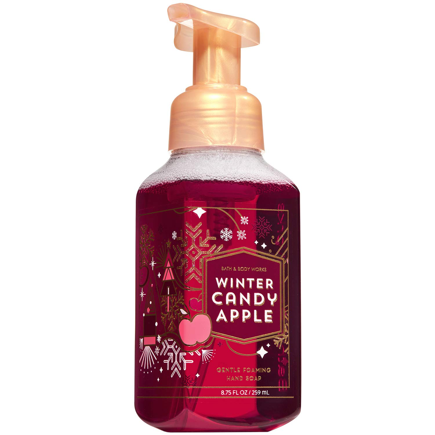 Bath and Body Works WINTER CANDY APPLE Gentle Foaming Hand Soap 8.75 Fluid Ounce (2018 Edition)