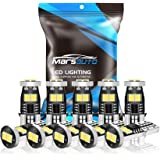 Marsauto 194 LED Bulbs T10 168 192 2825 W5W 400LM 6000K Xenon White Replacement Bulbs for 12V Car Interior Dome Map Door…