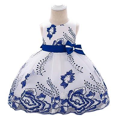 LADYLUCK Vestido De Niña Vestido De Malla Bordado Vestido De ...